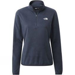 The North Face Womens Cornice 1/4 Zip Fleece Urban Navy/Tin Grey