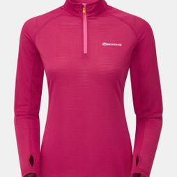 Montane Womens Allez Micro Pull-On French Berry/Dolomite Pink