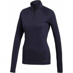Adidas Womens Trace Rocker Long Sleeve 1/2 Zip Fleece Legend Ink