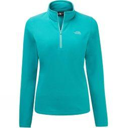 The North Face Womens Cornice II 1/4 Zip Fleece Ion Blue/Mint Blue