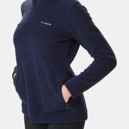 Columbia Womens Canyon Point Sherpa Pullover Dark Nocturnal