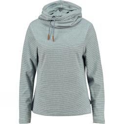 Ayacucho Womens Whistler Fleece White/Navy Stripes