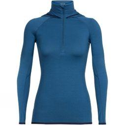 Womens Fluid Zone Long Sleeve Half Zip Hoody