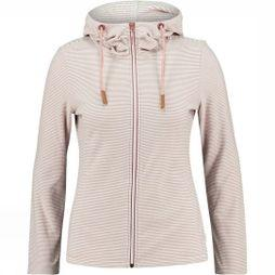 Ayacucho  Womens Whistler Full Zip Hoodie White/Ash Rose Striped