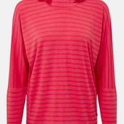 Mountain Equipment Womens Groundup Hoody Virtual Pink stripe