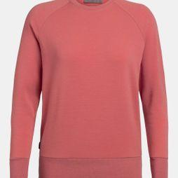 Icebreaker Womens Nature Dye Helliers Long Sleeved Crew T-Shirt Madder Root