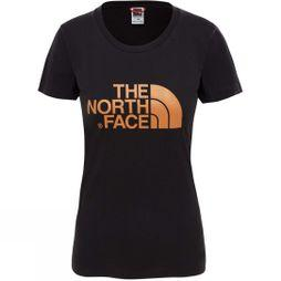 The North Face Womens Short Sleeve Easy Tee TNF Black/Metallic Copper