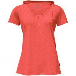 Jack Wolfskin Womens Travel Hoody T Hot Coral
