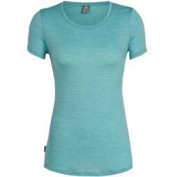 Icebreaker Womens Sphere Short Sleeve Low Crewe T-Shirt Ocean Heather