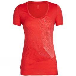 Icebreaker Womens Tech Lite Short Sleeve Scoop Plume T-Shirt Ember