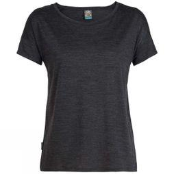 Icebreaker Womens Via Short Sleeve Scoop T-Shirt Black Heather