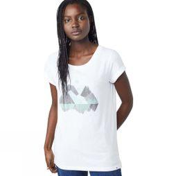 Tentree Womens Geo Mountain Tee White