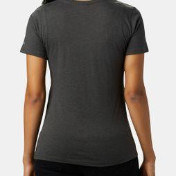 Columbia Women's Outer Bounds Short Sleeve Tee Charcoal Heather, Bearly