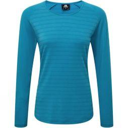 Mountain Equipment Womens Redline Long Sleeve Tee Digital Blue Stripe/Digital Blue