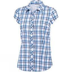 Columbia Womens Saturday Trail II Stretch Print Blue Dusk Plaid