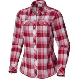 Columbia Womens Camp Henry Long Sleeve Shirt Wine Berry Block Plaid