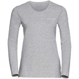 Vaude Womens Brand Long Sleeve Shirt Grey-Melange
