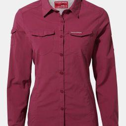 Craghoppers Womens Nosilife Adventure II Long Sleeve Shirt Amalfi Rose