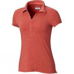 Columbia Women's Shadow Time Polo Red Coral