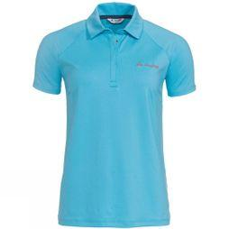 Vaude Women's Skomer Polo Shirt Crystal Blue