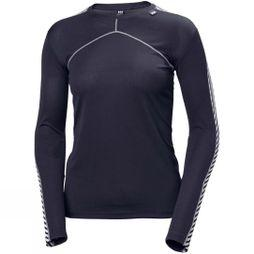 Helly Hansen Womens Lifa Crew Top Graphite Blue