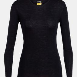 Icebreaker Womens 175 Everyday Long Sleeve Crewe Top Black