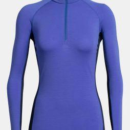 Icebreaker Womens 200 Zone LS Half Zip Top Mystic/Midnight Navy