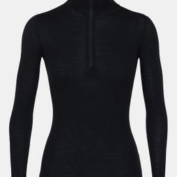 Icebreaker Womens 175 Everyday LS Half Zip Top Black
