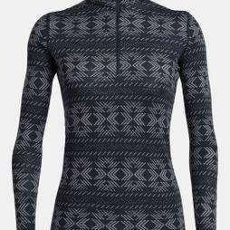 Icebreaker Women's 250 Vertex LS Half Zip Fleece Crystalline Midnight Navy