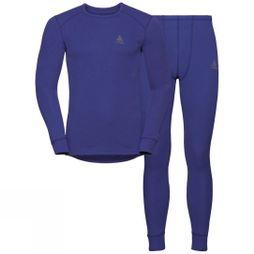 Odlo Womens Active Warm Base Layer Set Clematis Blue