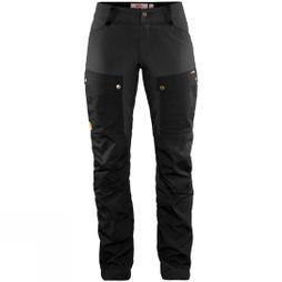 Fjallraven Womens Keb Trousers Curved Black/Stone Grey