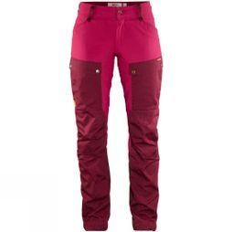 Fjallraven Womens Keb Trousers Curved Dark Garnet / Plum
