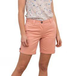 Brakeburn Women's Turn Up Shorts Peach