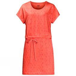 Jack Wolfskin Womens Shibori Dress Hot Coral All Over