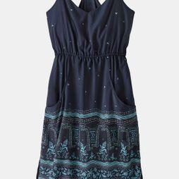 Patagonia Womens Lost Wildflower Dress Forest Song: Neo Navy