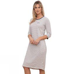 Brakeburn Women's Stripe Jersey T-shirt Dress White