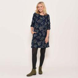 Brakeburn Florence pleat dress Navy