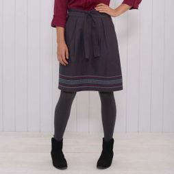 Womens Twill Embroidered Skirt