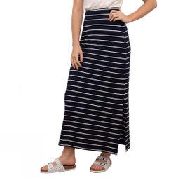 Brakeburn Women's Stripe Maxi Skirt Navy