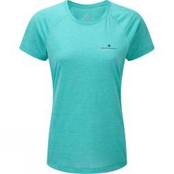 Ronhill Womens Momentum SS Tee Peacock Marl/Charcoal