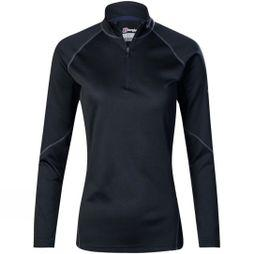 Berghaus Womens Tech Tee 2.0 Long Sleeve Zip Black/Black