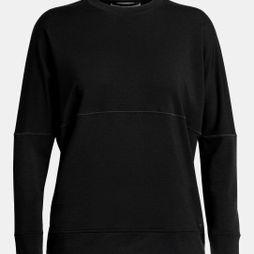Icebreaker Womens Momentum Long Sleeve Crewe Top Black