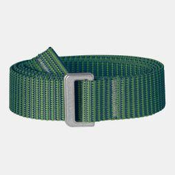 Fjallraven Womens Striped Webbing Belt Fern-Frost Green