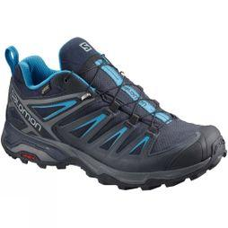 Salomon Mens X-Ultra 3 GTX Shoe Graphite/Night Sky/Hawaiian Surf