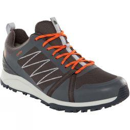 The North Face Mens Litewave Factpack II GoreTex Shoes Ebony Grey/Scarlet Ibis