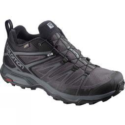 Salomon Mens X-Ultra 3 GTX Shoe (Wide) Black/Magnet/Quiet Shade