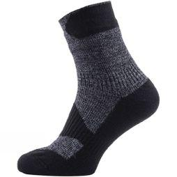 SealSkinz Mens Walking Thin Ankle Socks  Grey Marl/Dark Grey