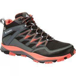 Columbia Womens Wayfinder Mid Outdry Black, Red Coral