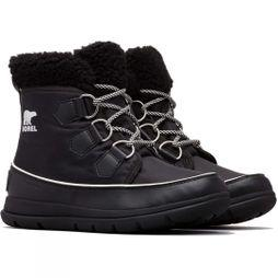 Sorel Womens Explorer Carnival Boot Black/Sea Salt