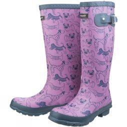 Cotswold Womens Windsor Print Welly Dog Print